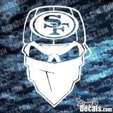 49ers skull bandana