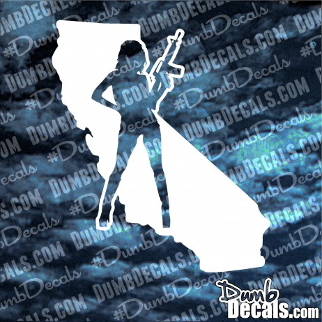 California Girl With Gun Decal