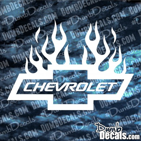 Chevy Bowtie with Flames Decal