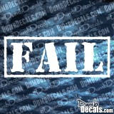 FAIL Stamp Decal