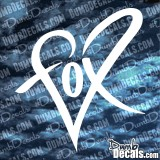 Fox Heart Decal