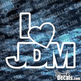 I Love (Heart) JDM Decal