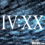 IV XX 4:20 weed decal