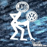 JDM fucking VW Decal bending over