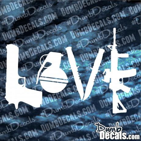 Love Guns Decal