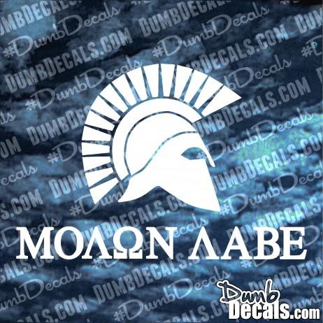 Molon Labe Spartan Decal