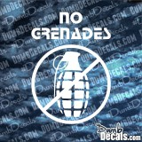 No Grenades Decal