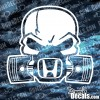 Honda Skull with Pistons Decal
