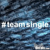 Team Single Decal
