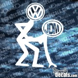 VW Fucking JDM Decal Bending over