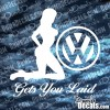 VW gets you laid Decal