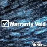Warranty Void Decal