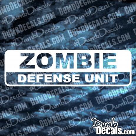 Zombie Defense Unit Decal