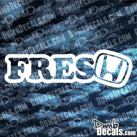 FRESH with Honda Logo Decal