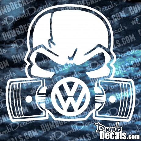 Skull with pistons VW Decal volkswagen