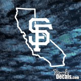 California San Francisco Giants OUTLINE Decal