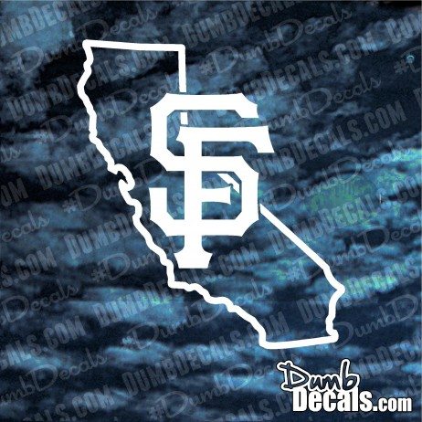 California San Francisco Giants OUTLINE Decal