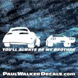 Paul Walker SUPRA CHARGER Decal BROTHER