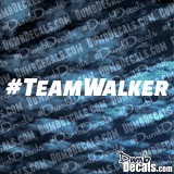 Paul Walker Team Walker Decal Fast and Furious 7 Last Ride