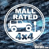 Jeep Mall Rated 4x4 Decal