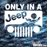 Only In A Jeep Road Head Decal