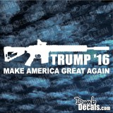 Trump AR15 Make America Great Again Decal