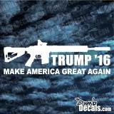 Trump AR15 Make America Great Again Decal