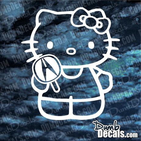 Hello Kitty Acura Decal