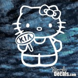 Hello Kitty Kia decal