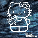 Hello Kitty Nissan Decal