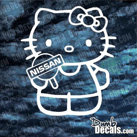 Hello Kitty Nissan Decal