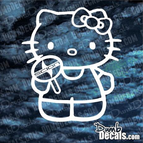 Hello Kitty Scion Decal