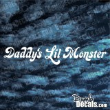 Daddy's Lil Monster windshield decal