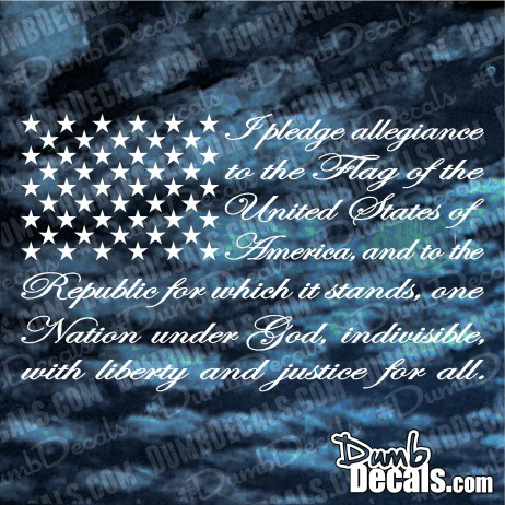 The Pledge of Allegiance American Flag Decal car