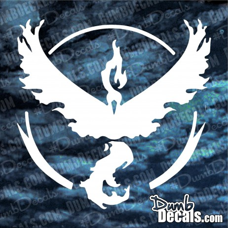 TEAM VALOR (RED MOLTRES) Pokemon GO Decal