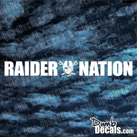 Oakland Raiders Nation Decal windshield