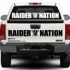 Oakland Raiders Nation Decal windshieldOakland Raiders Nation Decal windshield