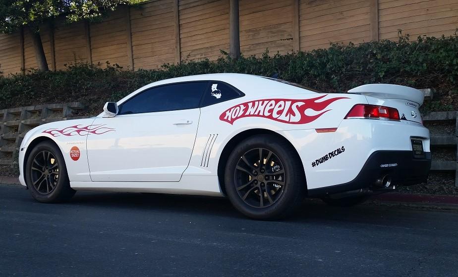 Camaro Hot Wheels Graphics body kit decal - DumbDecals com