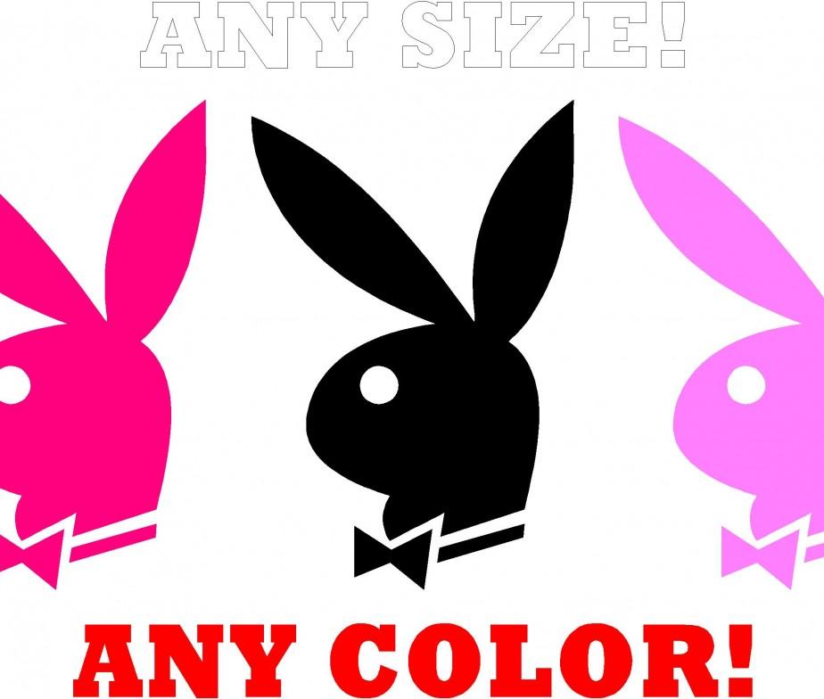 PLAYBOY Bunny Decal Hugh Hefner Sticker Choose Color /& Size